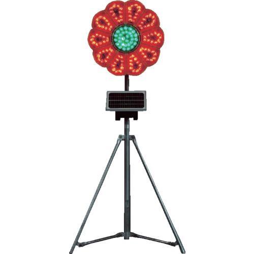 仙台銘板 ハイブリッドネオひまわり 赤/緑 三脚付電源セット(3050080)
