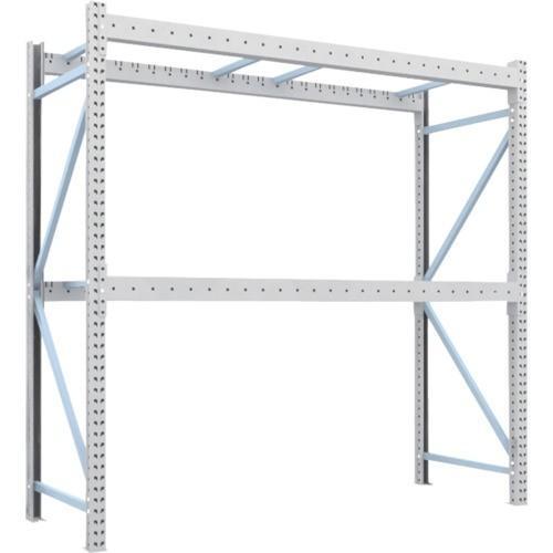 TRUSCO 重量パレット棚1トン2500×900×H2500単体 2段(1D25B25092) TRUSCO 重量パレット棚1トン2500×900×H2500単体 2段(1D25B25092)