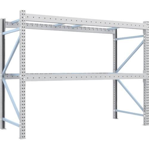 TRUSCO 重量パレット棚2トン2500×1000×H2000単体(2D20B25102) TRUSCO 重量パレット棚2トン2500×1000×H2000単体(2D20B25102)