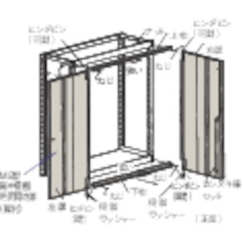 TRUSCO M2型棚用両開き扉 W1800XH1800 ネオグレ(DM266DX) TRUSCO M2型棚用両開き扉 W1800XH1800 ネオグレ(DM266DX)