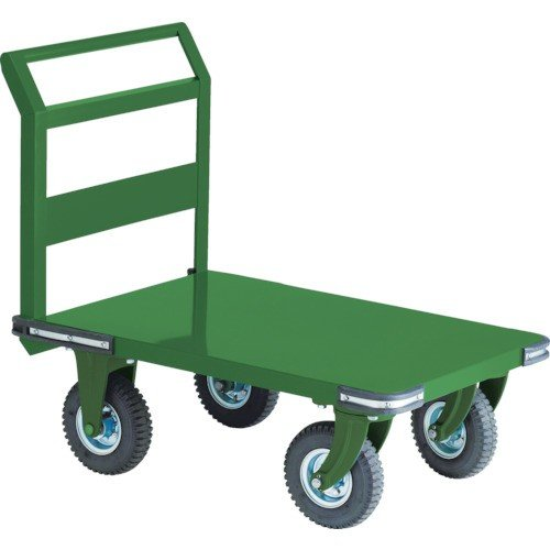 TRUSCO 鋼鉄製運搬車 900X600 Φ223空気入タイヤ 鋳物金具(OH2AR)