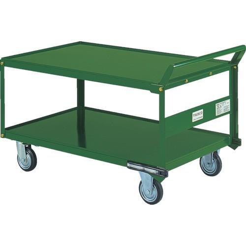 TRUSCO 鋼鉄製運搬車 片袖2段型 1200X750 プレス車 自在側S付(SH1WS)