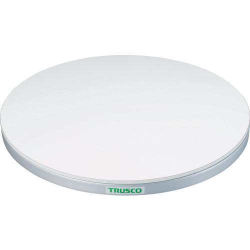 TRUSCO 回転台 50Kg型 Φ300 ポリ化粧天板(TC3005W)