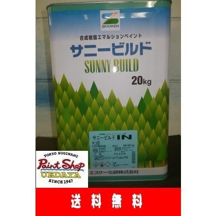 【送料無料】 サニービルドIN レッド 20K 1缶  ≪エスケー化研≫