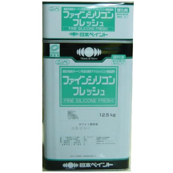 【送料無料】高弾性 ニッペ ファインシリコンフレッシュ つや有り 中彩色 15kg (常備色)