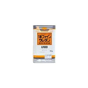 1液ファインウレタンU-100   調色ランクO 艶有り 原色 オーカーN (7.5kg)