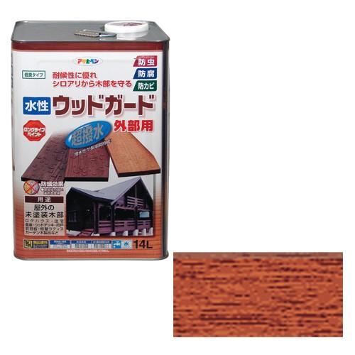 木部 ペンキ 水性ウッドガード外部用 14L チーク 03