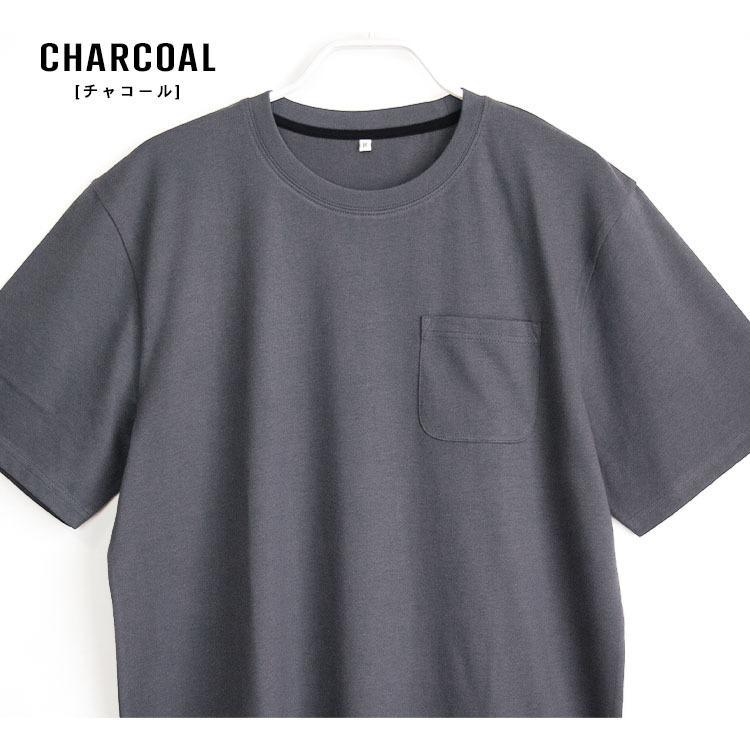 パジャマ ルームウエア メンズ 春 夏 半袖 綿100% 柔らかく軽い薄手の快適Tシャツ素材 上下セット 胸ポケット グレー/ネイビー/チャコール M/L/LL pajama 06
