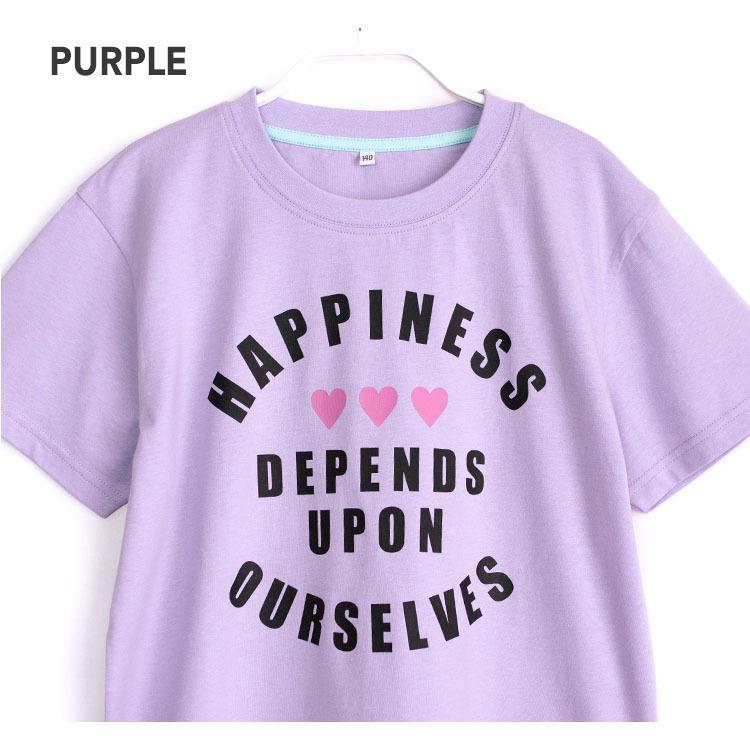 パジャマ キッズ ガールズ 春 夏 半袖 綿100% 子供 ジュニア 薄手のTシャツ 女の子 ロゴプリント ボーダーショートパンツ 130/140/150/160 メール便送料無料|pajama|05