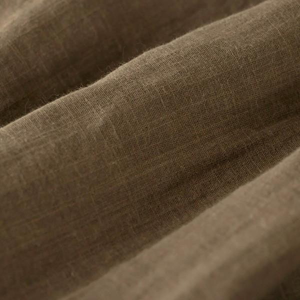 パジャマ レディース メンズ ペア 男女兼用 2重ガーゼ 綿 夏 春 秋 テーラーカラー 長袖 前開き ルームウェア 日本製 父の日 ギフト 0306|pajamakobo-lovely|12