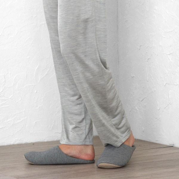 メンズ パジャマ 長袖 かぶり Vネック シルク100%薄地天竺ニット 0525|pajamakobo-lovely|14