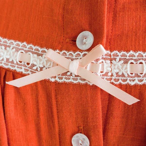 パジャマ レディース スラブダブルガーゼ チュニック丈 大人かわいい パジャマ 春夏秋 長袖 前開き 入院用にも 綿100% 日本製 母の日 ギフト 0804|pajamakobo-lovely|09