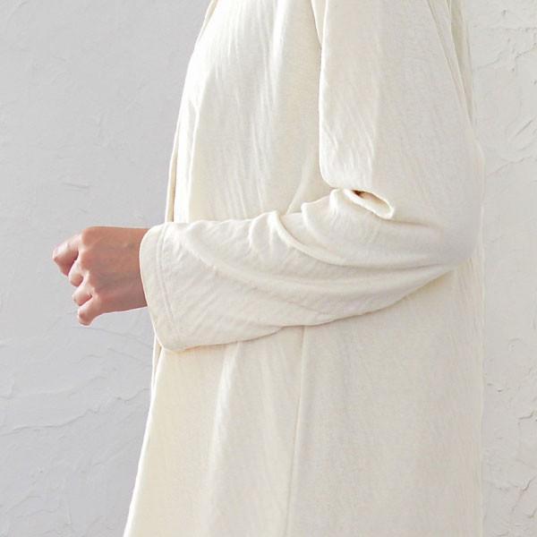 癒しのパジャマ レディース パジャマ オーガニックコットン 綿 2重 接結ニット素材 冬春秋 長袖 前開き 丸衿タイプ 日本製 母の日 1203|pajamakobo-lovely|11