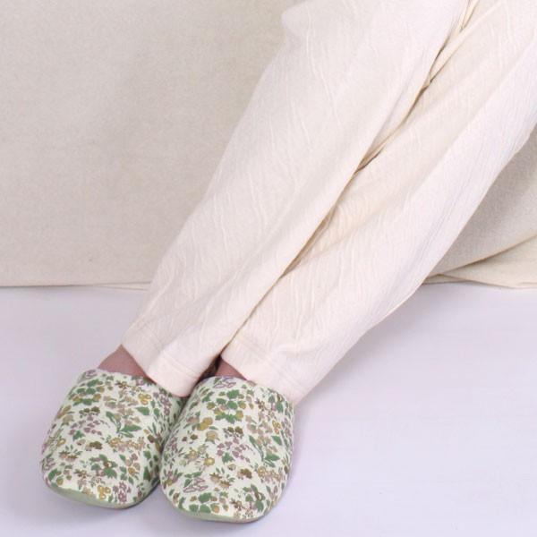 癒しのパジャマ レディース パジャマ オーガニックコットン 綿 2重 接結ニット素材 冬春秋 長袖 前開き 丸衿タイプ 日本製 母の日 1203|pajamakobo-lovely|10