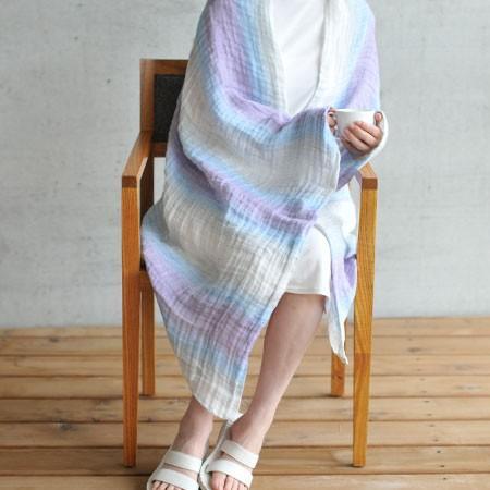 本麻 サマーブランケット リネン&ラミー 洗える 日本製 95×150cm(ハーフサイズ)|pajamakobo-lovely|05