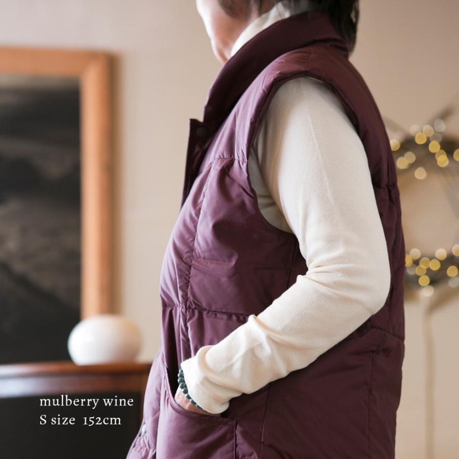 着込まず防寒 上質羽毛 ルームベスト 無地 日本製 一枚で暖かい ダウン ベスト はんてん 古希 喜寿 祝い ちゃんちゃんこ 父 母 誕生日プレゼント pajamaya 12