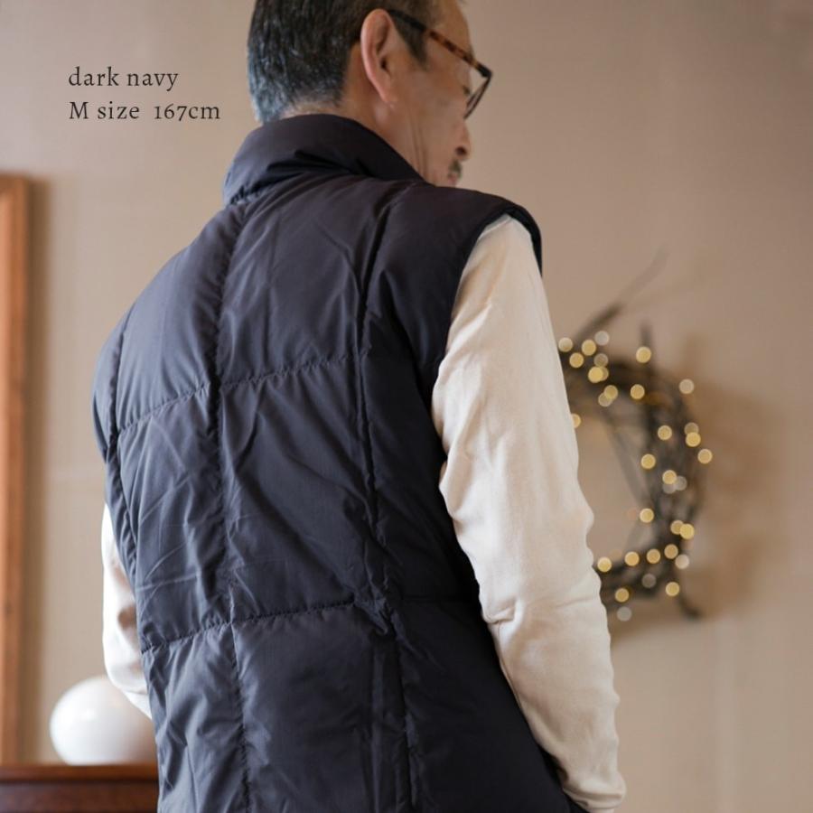 着込まず防寒 上質羽毛 ルームベスト 無地 日本製 一枚で暖かい ダウン ベスト はんてん 古希 喜寿 祝い ちゃんちゃんこ 父 母 誕生日プレゼント pajamaya 13