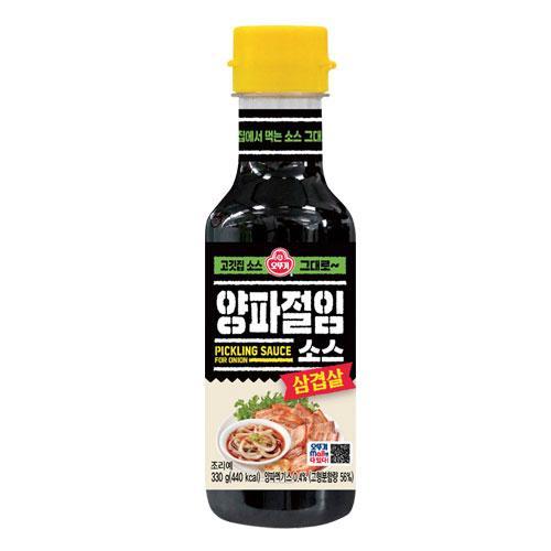入手困難 オットギ ヤンパジョリムソース 在庫一掃 玉ねぎソース 275g 醤油ベースのソース 韓国食材 サムギョプサル さっぱり味 韓国食品 韓国調味料