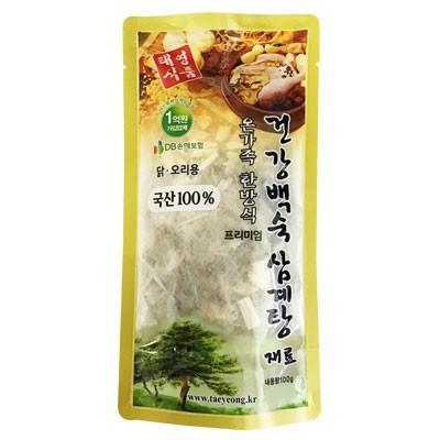 『テヨン食品』参鶏湯用漢方材料(100g・ティーパック、約3〜4人前) 韓国産100%材料 サムゲタン サムゲタン材料 参鶏湯材料 韓国食材 韓国料理 韓国食品|paldo