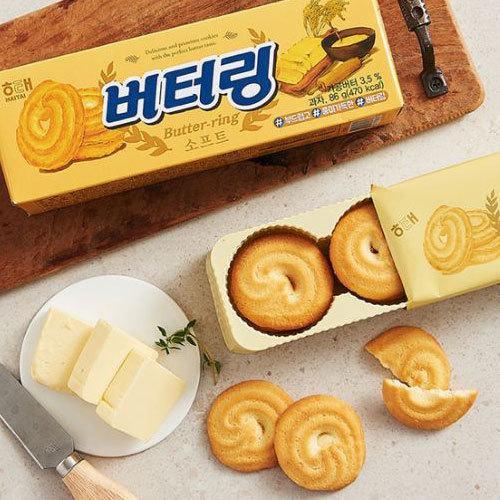 毎日がバーゲンセール ヘテ 買取 バターリング 86g ソフトクッキー 韓国お菓子 バター味クッキー