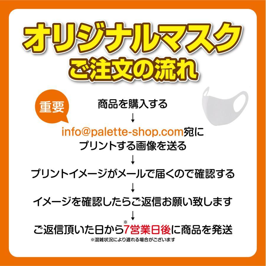 メールで画像を送るだけ!! 簡単オリジナルプリントマスク 10枚セット [白ベース]|palette-shop|07