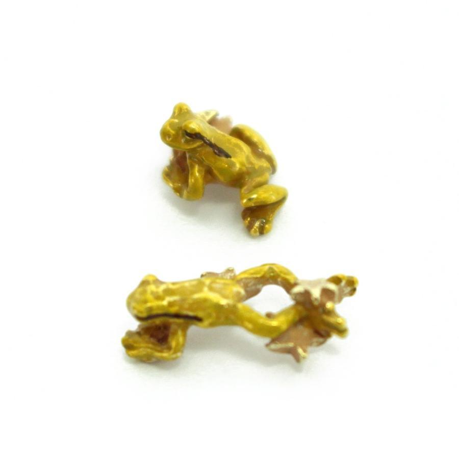 c9ea0ec88fd1b7 かえる 蛙 ユニーク 可愛い 揺れる ピアス レディース サージカル ...