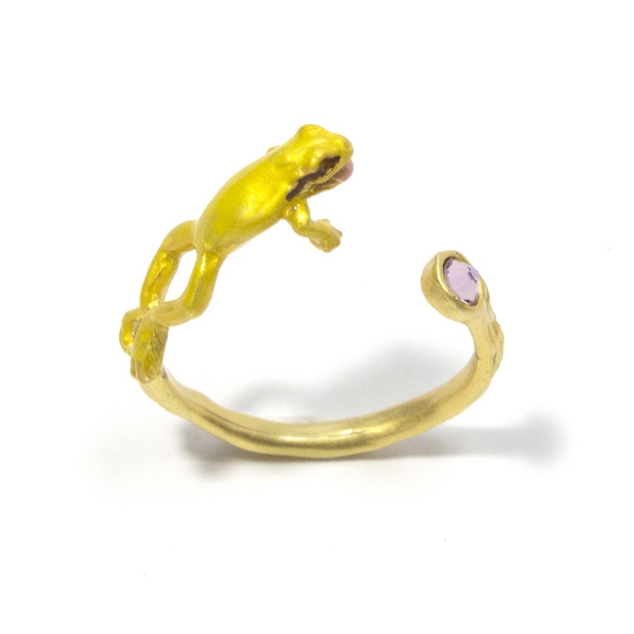 リング 指輪 フリーサイズ 蛙 レディース PalnartPoc パルナートポック 公式 ブラフシューペリア プレゼ ント カエルぴょんリング|palnartpocstore|03