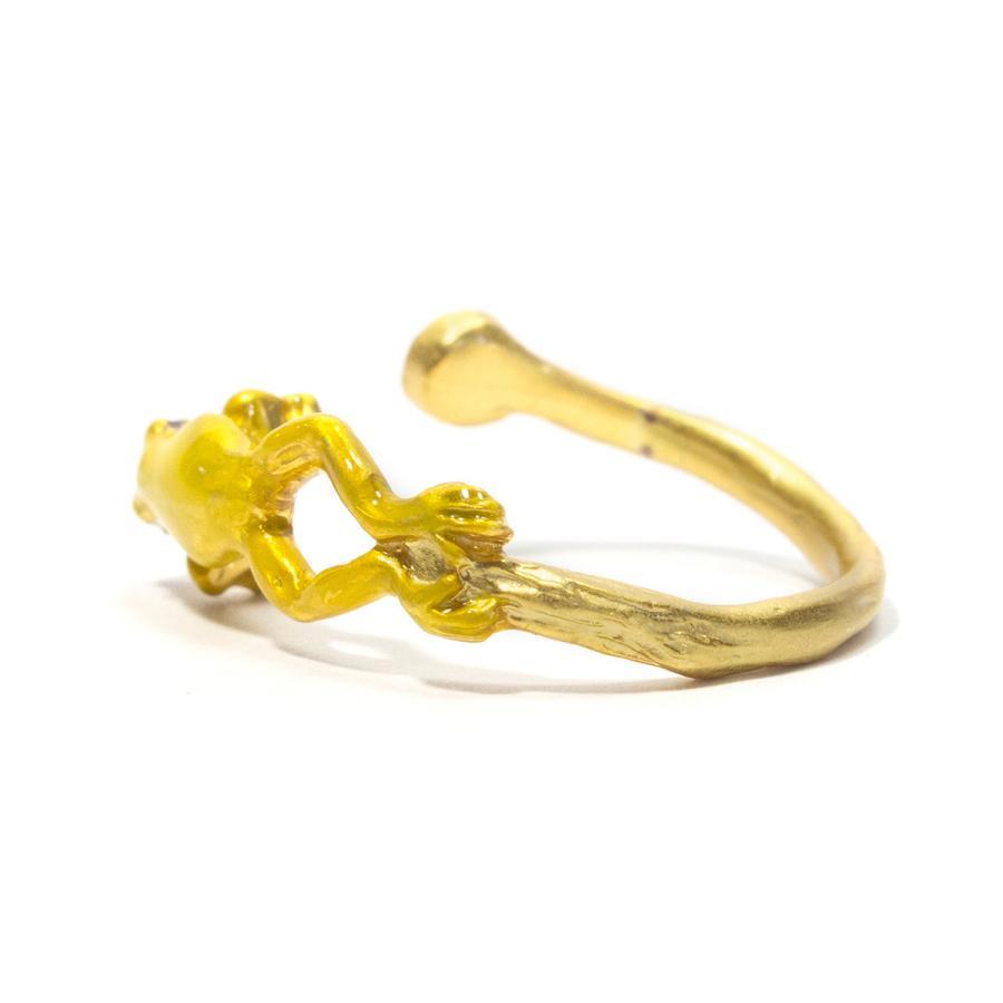 リング 指輪 フリーサイズ 蛙 レディース PalnartPoc パルナートポック 公式 ブラフシューペリア プレゼ ント カエルぴょんリング|palnartpocstore|06