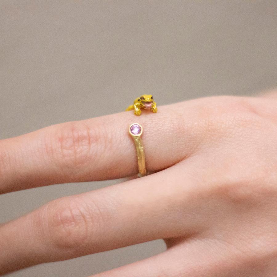 リング 指輪 フリーサイズ 蛙 レディース PalnartPoc パルナートポック 公式 ブラフシューペリア プレゼ ント カエルぴょんリング|palnartpocstore|09