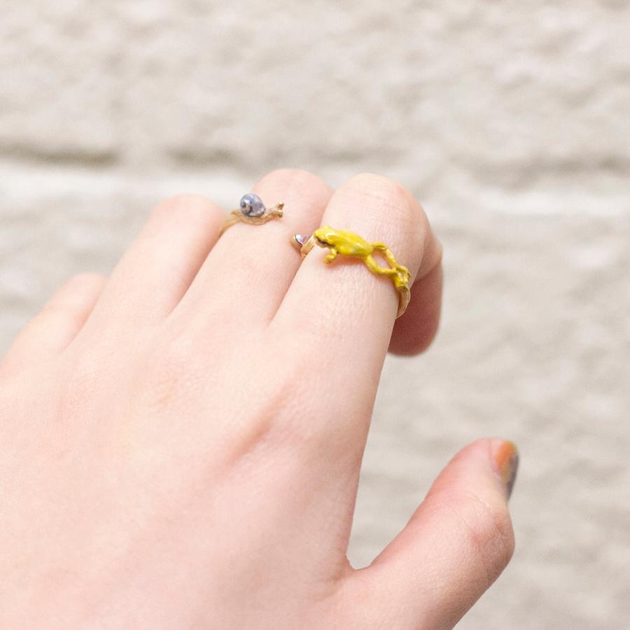 リング 指輪 フリーサイズ 蛙 レディース PalnartPoc パルナートポック 公式 ブラフシューペリア プレゼ ント カエルぴょんリング|palnartpocstore|10