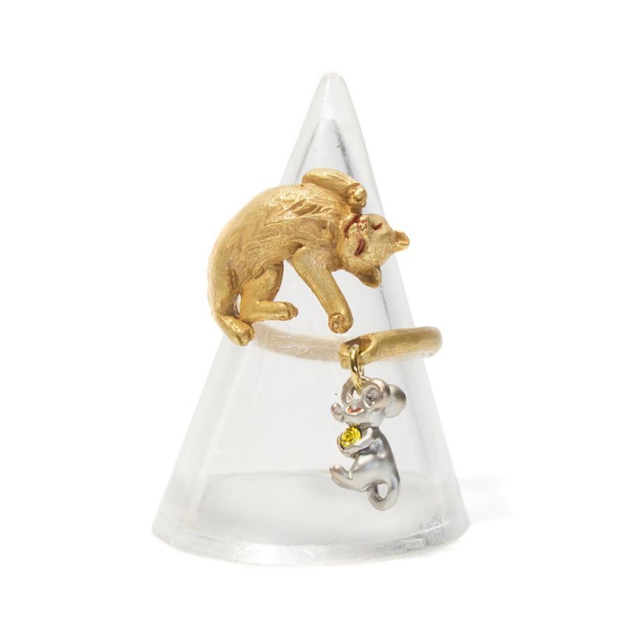 リング 指輪 フリーサイズ 猫 レディース PalnartPoc パルナートポック 公式 ブラフシューペリア プレゼ ント 猫の寝る間にリング|palnartpocstore