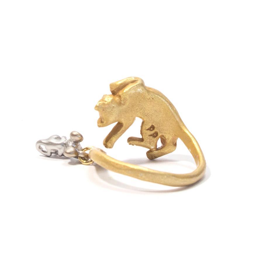 リング 指輪 フリーサイズ 猫 レディース PalnartPoc パルナートポック 公式 ブラフシューペリア プレゼ ント 猫の寝る間にリング|palnartpocstore|03