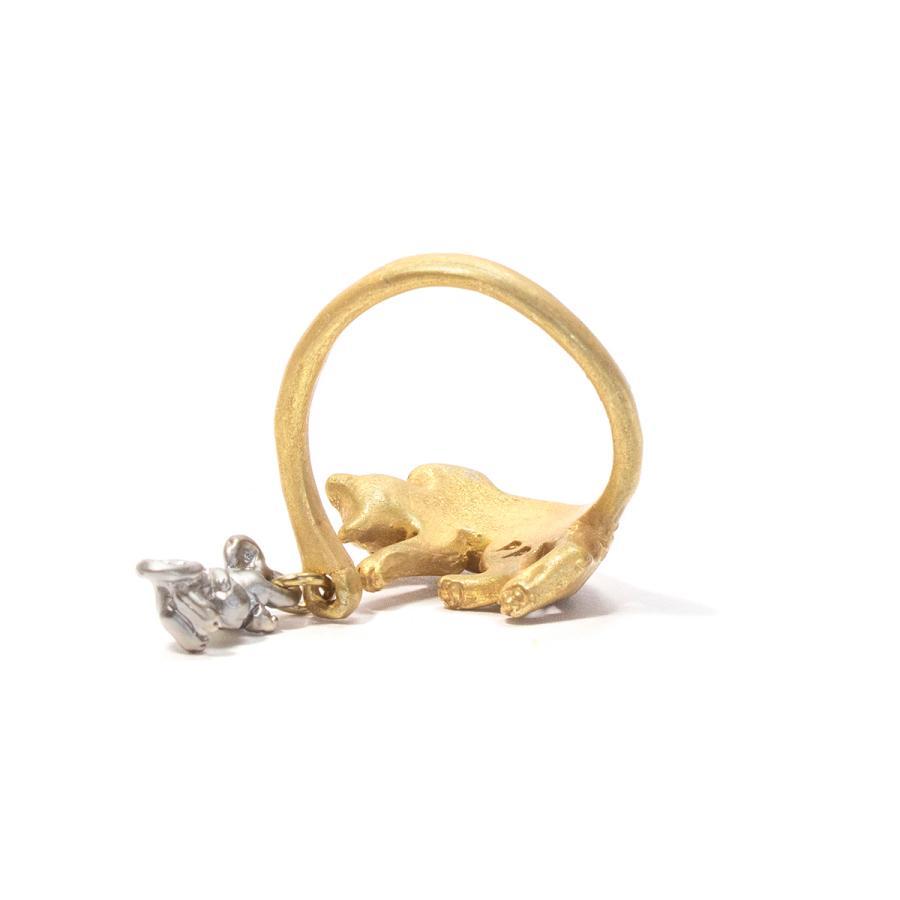 リング 指輪 フリーサイズ 猫 レディース PalnartPoc パルナートポック 公式 ブラフシューペリア プレゼ ント 猫の寝る間にリング|palnartpocstore|04