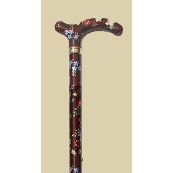 英国製総花柄伸縮杖/ブラウン panastick