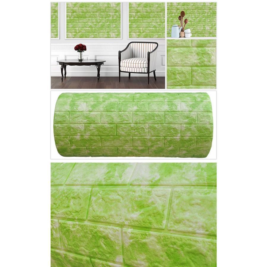 壁紙 クッションシート 100cm X 36 7cm 壁紙 発泡スチロール レンガ 壁