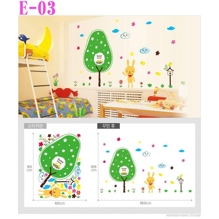 E 3 ウォールステッカー シール 赤ちゃんの部屋 かわいい 子供 木 風景 壁紙 シンプル ナチュラル モダン アジアン はがせる 激安 動物 ウサギ Wall038 Pancoat 通販 Yahoo ショッピング