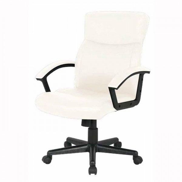 送料無料 ナカバヤシ OAレザーチェア ローバック CNL-501 (IV)アイボリー|b03 (IV)アイボリー|b03