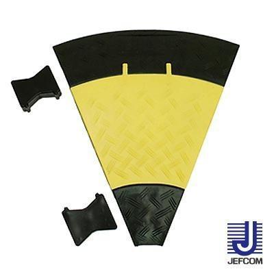 JEFCOMジェフコム ケーブルプロテクター ジョイントプロテクター(マルチ連結タイプ) 曲線部 470×535×50mm JTP-5435|b03