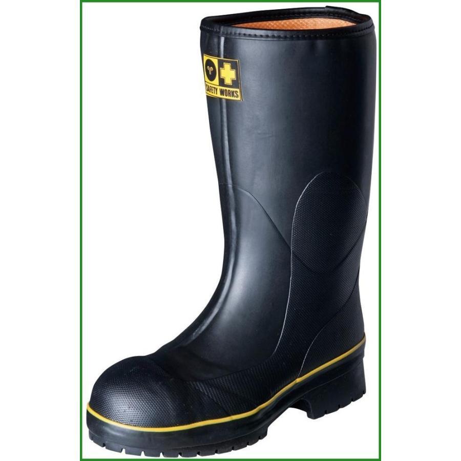 弘進ゴム 長靴(ゴム製) ライトセーフティーワークス LSW-01 黒 24.0cm A0020AB|b03
