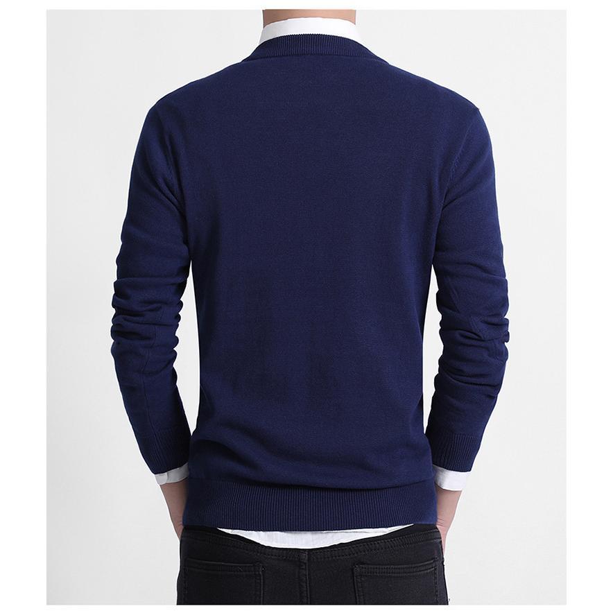セーター Vネック メンズ スクール ビジネス コットン100% ニットセーター 長袖 無地 吸水吸湿 制服 黒 グレー ネイビー プレゼント ギフト バレンタイン  |b01|pandafamily|08