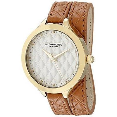 正式的 ストゥーリングオリジナル 腕時計 腕時計 Stuhrling レディース 658 02 レザー Vogue Beige Vogue ラップ アラウンド レザー ストラップ 腕時計, CDソフトケースcomストア:903a6ba1 --- airmodconsu.dominiotemporario.com