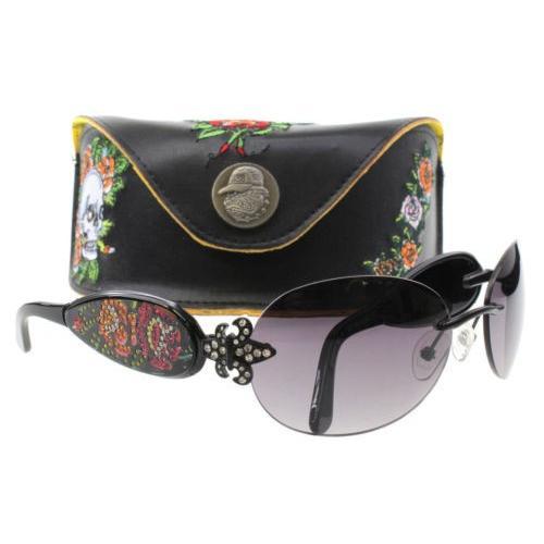 最終値下げ サングラス エドハーディー Ed Hardy Sunglasses EHS 014 Black BLACK, 信州お茶の散歩道 田畑茶舗 12b6ed71