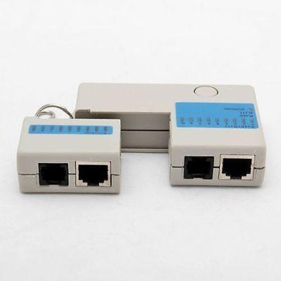 海外セレクション ジャンプロープRJ45 RJ11 ミニ キャット5 Network LAN Cable Tester