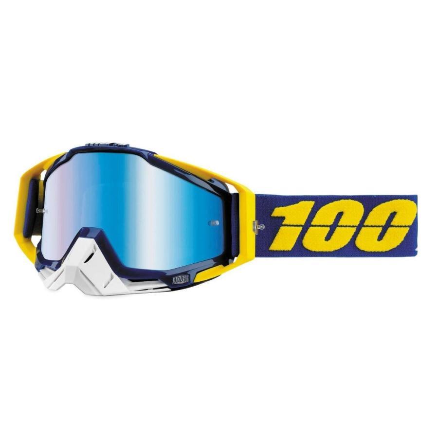 カー用品アイウエア 100パーセント 100% Racecraft ゴーグル モトクロス MX オフロード ATV MTB ミラー クリア レンズ Lindstrom 青 Mirror
