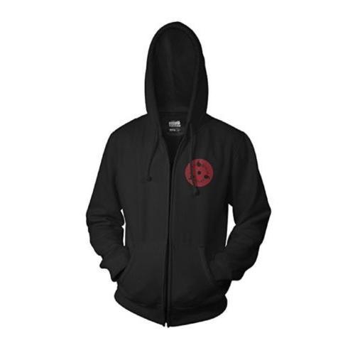 L  Sweatshirt Naruto Shippuden Mens Hoodie Black Sizes M