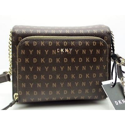 売上実績NO.1 バッグ ハンドバッグ ディーケーエヌワイ DKNY DKNY BRYANT Crossbody Handbag バッグ Ladies ハンドバッグ Brown Signature Logo PVC R310302F, まねきや きらら:8fa15a7d --- chizeng.com