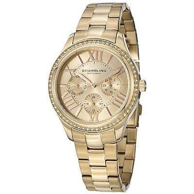 正規品 海外セレクション 腕時計 Stuhrling 391LS 02 レディース Regent レディース Majestic クォーツ スワロフスキ Day Date 腕時計, 【希少!!】 46360fa6