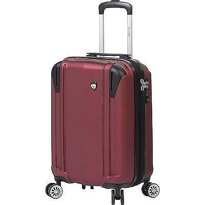 ラゲッジ スーツケース ミアトロ Mia Toro Navelli Hardside Spinner Carry-On, Burgundy M1051-20in-BUR