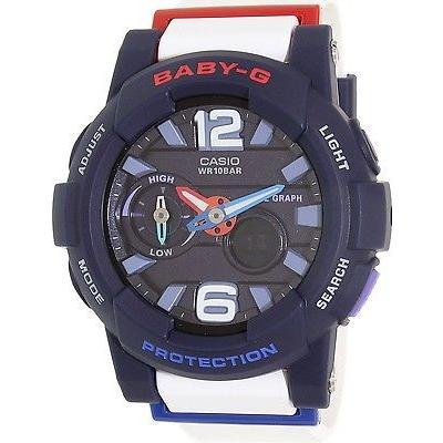 素晴らしい カシオ Casio レディース ベビー-G BGA180-2B2 ホワイト Resin クォーツ 腕時計, 波野村 5a5c8b72