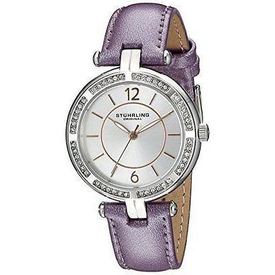 日本に ストゥーリングオリジナル 腕時計 Stuhrling Original レディース 550 03 Vogue ステンレス スチール パープル レザー 腕時計, ABEAM WEB STORE 1215aed7